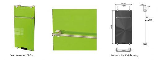 Infrarot Glasheizung IBP Grün 550 Watt