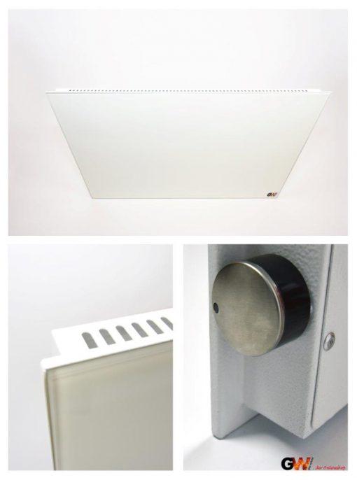 Hybridheizung Glas HB-G 600 Watt Weiss 2.Wahl