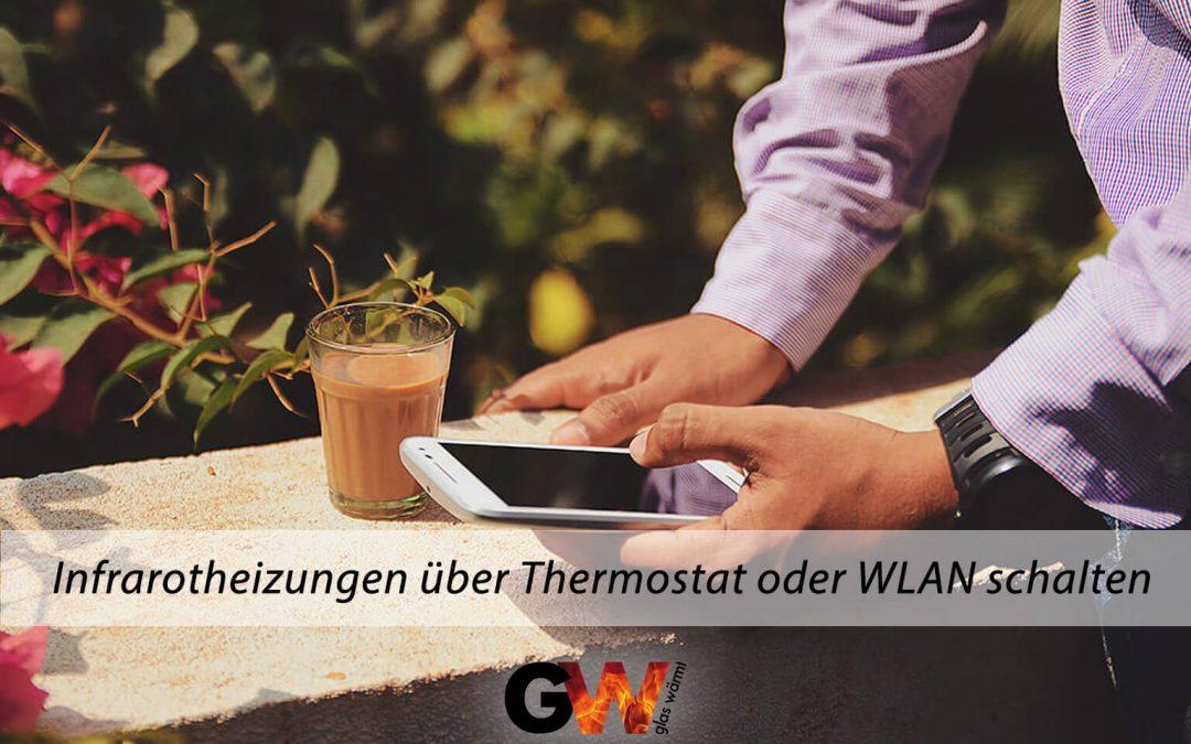 Infrarotheizungen über Thermostat oder WLAN schalten