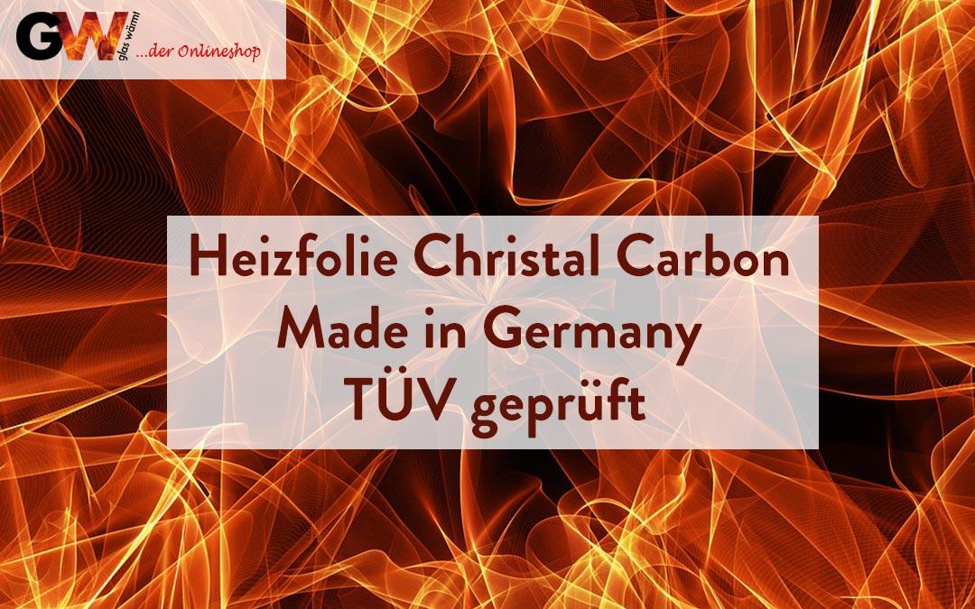 Heizfolie Christal Carbon Made in Germany Tüv Geprüft