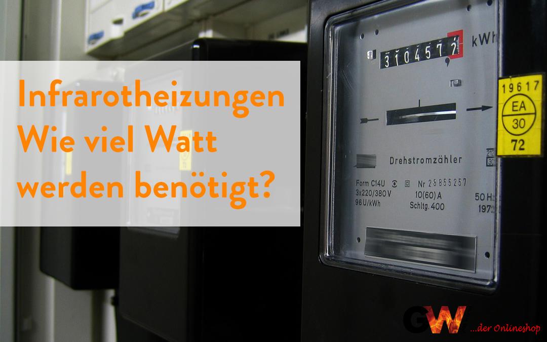 Infrarotheizungen – Wie viel Watt werden benötigt?