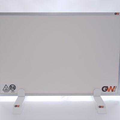 GlasWärmt-Infrarotheizung-Aluminium-IAP-300Watt-Weiß-600x300x20mm-Vorderseite
