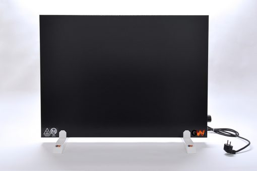 GlasWärmt-Infrarotheizung-Hybridboard-HB-schwarz-1000Watt-1000x600x40mm-Vorderseite