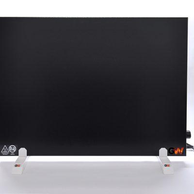GlasWaermt-Infrarotheizung-Hybridboard-HB-schwarz-1000Watt-Vertikal-600x1000x40mm-Vorderseite