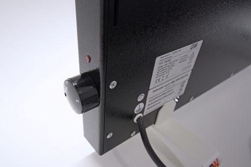 GlasWaermt-Infrarotheizung-Hybridboard-HB-schwarz-1400Watt-Vertikal-600x1400x40mm-Detailansicht-1