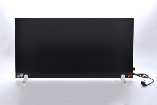 GlasWaermt-Infrarotheizung-Hybridboard-HB-schwarz-1400Watt-Vertikal-600x1400x40mm-Vorderseite