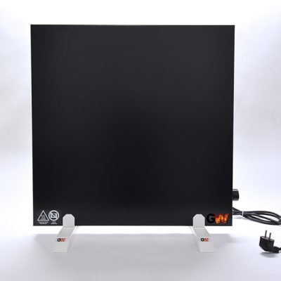 GlasWaermt-Infrarotheizung-Hybridboard-HB-schwarz-600Watt-600x600x40mm-Vorderseite