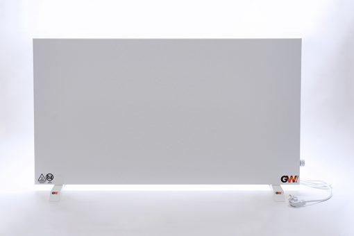 GlasWärmt-Infrarotheizung-Hybridboard-HB-weiß-1400Watt-1400x600x40mm-Vorderseite