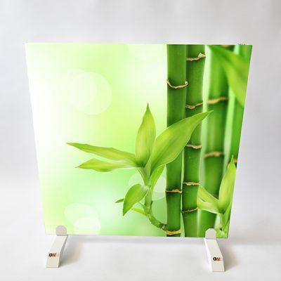 GlasWärmt-Infrarotheizung-Motiv-IMMP-450Watt-Bambus-600x600x25mm-Vorderseite