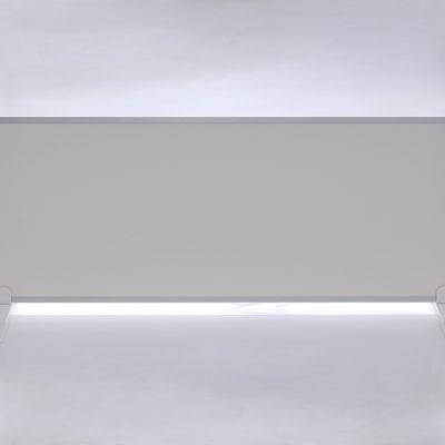 GlasWärmt-Infrarotheizung-Aluminium-IAP-1100Watt-Weiß-1400x600x20mm-Vorderseite