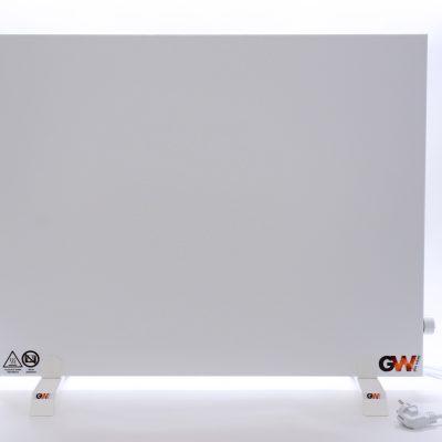 GlasWärmt-Infrarotheizung-Hybrid-weiß-1000Watt-1000x600x40mm-Light-Vorderseite