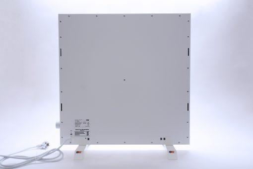 GlasWärmt-Infrarotheizung-Hybrid-weiß-600Watt-600x600x40mm-Light-Rückseite