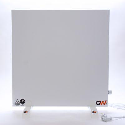 GlasWärmt-Infrarotheizung-Hybrid-weiß-600Watt-600x600x40mm-Light-Vorderseite