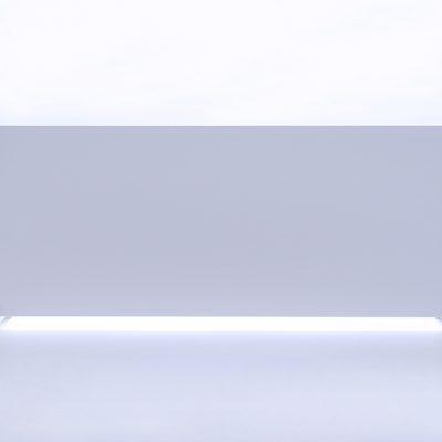 GlasWärmt-Infrarotheizung-Metall-IMP-weiß-1100Watt-1400x600x20mm-Vorderseite