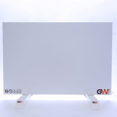 GlasWärmt-Infrarotheizung-Metall-IMP-weiß-300Watt-600x400x20mm-Vorderseite