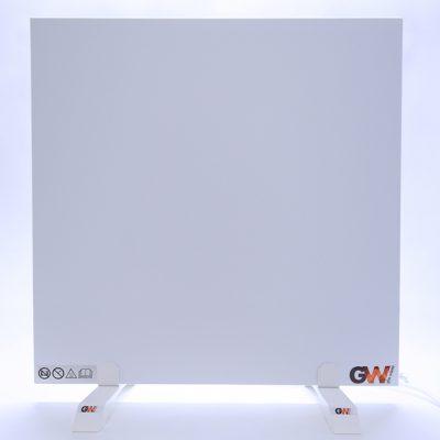 GlasWärmt-Infrarotheizung-Metall-IMP-weiß-450Watt-600x600x20mm-Vorderseite